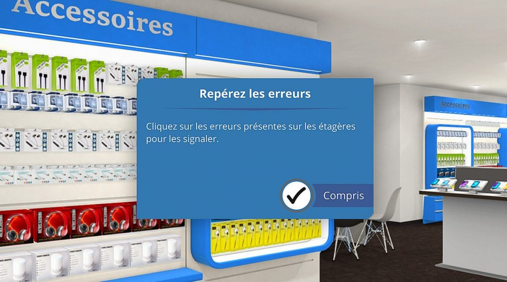 Serious game grande distribution, game design photo Serious factory e-learning module